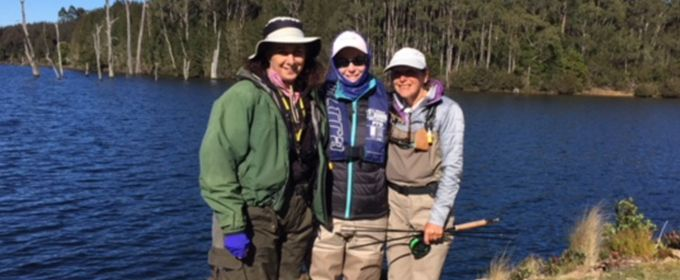 A birthday catch for fly fisher Karen Brooks at #16AMG