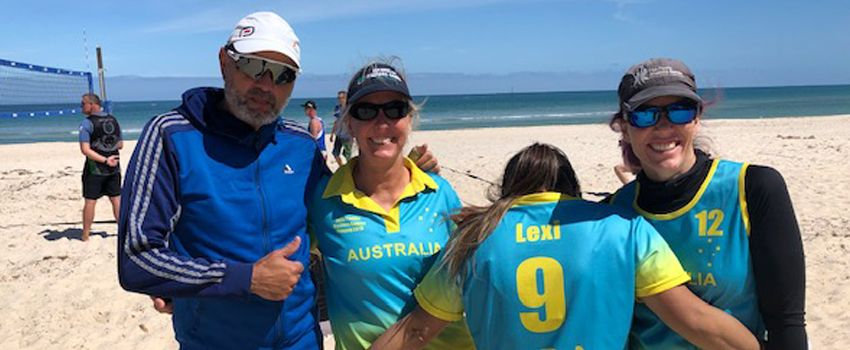 Western Australians on court at the Australian Masters Games